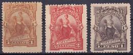 Nicaragua 30-31-36 Année 1891 (Sans Gomme) - Nicaragua
