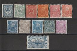 Nouvelle Calédonie 1922-28 Série Courante 114-125, 12 Val * Charnière MH - Unused Stamps