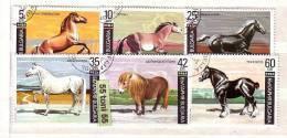 1991 Animals – Horses  6v.- Used/oblitere (O) Bulgaria / Bulgarie - Gebraucht