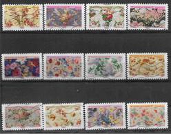 2021 FRANCE Adhesif 1989-2000 Oblitérés, Motifs De Fleur, Série Complète - Adhesive Stamps