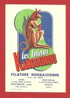 """CPM Illustrateur  """"Les Laines Kangourou"""" Filature Roubaisienne - Publicité"""