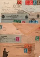 FRANCE LOT DE TYPE SEMEUSE SUR LETTRES - POIDS 1.630 GRAMMES - Kilowaar (min. 1000 Zegels)