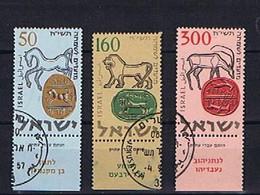 Israel 1957: Mi.-Nr. 145-147 Used, Gestempelt - Used Stamps (with Tabs)
