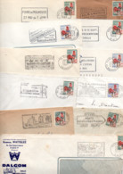 FRANCE LOT DE TYPE COQ SUR LETTRES - POIDS 840 GRAMMES - Kilowaar (min. 1000 Zegels)