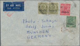 Bahrain: 1936-37, Two Airmail Covers To Europe, With One To Holland Via Alexandria In 1936 Franked B - Bahrein (1965-...)