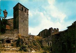 12 - La Couvertoirade - Ancienne Commanderie Des Templiers - L'Eglise Et Les Ruines Du Château Des Templiers - CPM - Voi - Autres Communes