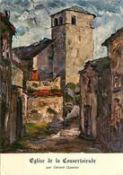 12 - La Couvertoirade - Eglise De La Couvertoirade Par Gérard Quantin - Art Peinture - CPM - Voir Scans Recto-Verso - Autres Communes