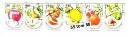 1993 Fruits 6v - Used/oblitere (O)  BULGARIA / Bulgarie - Gebraucht