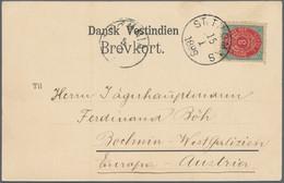 Dänisch-Westindien: 1898 Picture Postcard (Hilsen Fra St. Thomas) Used To Bochnia, Western Galicia ( - Dinamarca (Antillas)