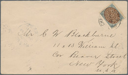 Dänisch-Westindien: 1899 Cover From Christiansted To New York Via Frederiksted, Franked By 10c. With - Dinamarca (Antillas)