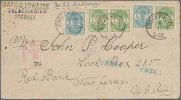Dänisch-Westindien: 1902 Registered Cover From Frederiksted To Red Bank, New Jersey, USA Via New Yor - Dinamarca (Antillas)