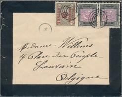 Dänisch-Westindien: 1906, INCOMING MAIL: Dominican Republic, UN Ctvo On 4 C Brown Olive And 2 X 2 C - Dinamarca (Antillas)