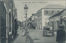 Dänisch-Westindien: 1907 Destination TASMANIA: St. Thomas Picture Postcard Sent To The Important And - Dinamarca (Antillas)