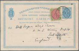 "Dänisch-Westindien - Ganzsachen: 1898, UPU Card 2 C. Uprated 1 C. Tied ""ST. THOMAS 29 3 1898"" To Eng - Dinamarca (Antillas)"