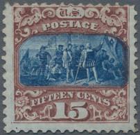 Vereinigte Staaten Von Amerika: 1869, Pictorials, 15 C. Red-brown/blue Type II, Unused Mounted Mint, - Ungebraucht
