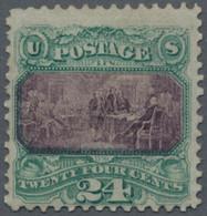 Vereinigte Staaten Von Amerika: 1869, Pictorials, 24 C. Green/violet Type II, Grill, Unused Mounted - Ungebraucht