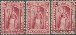 Vereinigte Staaten Von Amerika - Zeitungsmarken: 1875 Periodical Stamps 48c., 60c. And 72c. All In R - Giornali & Periodici