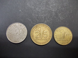 3 Pcs Afrique De L'Ouest - 10fr 1971 + 25fr 1970 + 100fr 1969 - Other - Africa