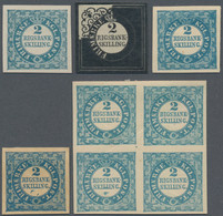 Dänemark: 1851/1901: Eight Reprints Of Essays And Proofs Of The 2 RBS, With 1901 Reprint Of Essay In - Neufs