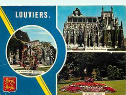 27 - Louviers - Multivues - Fleurs - Blasons - Flamme Postale De Louviers - CPM - Voir Scans Recto-Verso - Louviers