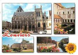 27 - Louviers - Multivues - Automobiles - Fleurs - CPM - Voir Scans Recto-Verso - Louviers