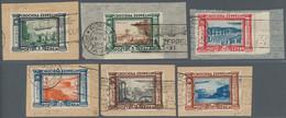 Italien: 1933, Zeppelin Flight, Complete Set Of Six Values, Each Tied By Zeppelin Machine Cancels To - Unclassified