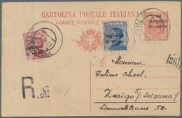 Italienische Besetzung 1918/23 - Gemeinschaftsausgabe: 1919, 10 Cmi Di Corona On 10 Cmi Rose Postal - Trente & Trieste