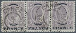 """Österreichische Post Auf Kreta: 1903-1904, Franz Joseph 2 Kr. Mit Überdruck """"FRANCS"""" Einwandfrei Gez - Levant Autrichien"""