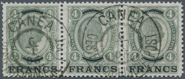 """Österreichische Post Auf Kreta: 1903-1904, Franz Joseph 4 Kr. Mit Überdruck """"FRANCS"""" Einwandfrei Gez - Levant Autrichien"""