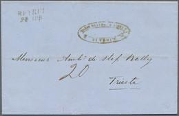 Österreichische Post In Der Levante: 1859, Kompletter Faltbrief Mit L2 BEYRUT 24.APR. (Müller 7a) Na - Levant Autrichien