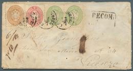 Österreichische Post In Der Levante: 1867, Paar 3 So, 5 So Und 15 So Doppeladler, Alle Weit Gezähnt - Levant Autrichien