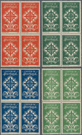 Portugal: 1940, 5 C To 1,74 E Portuguese Legion, Complete Set In Blocks Of Four Mint Never Hinged, 5 - Nuevos