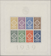 Portugal: 1940 First Souvenir Sheet, Mint Never Hinged, With Usual Light Gum Creases, Fine. (Mi. €85 - Nuevos