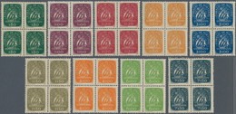 Portugal: 1948/1949, Definitives Caravelle, Nine Values In Blocks Of Four, Mint Never Hinged (natura - Nuevos