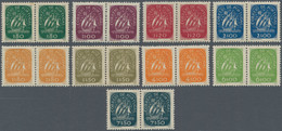 Portugal: 1948/1949, Definitives Caravelle, Nine Values In Horizontal Pairs, Mint Never Hinged (natu - Nuevos