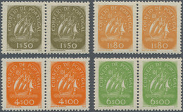 Portugal: 1949, Definitives Caravelle, Four Values In Horizontal Pairs, Mint Never Hinged (natural G - Nuevos
