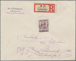 "Russische Post In Der Levante - Staatspost: 1913, 25 K. Romanov Surcharged 2 1/2 P. Canc. ""POSTE RUS - Levant"