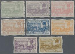 Türkei: 1924 'Mustafa Kemal & Bridge' Complete Set Of 8 Values, Mint Never Hinged (Sc.625-32), Fresh - Unused Stamps