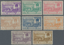 Türkei: 1924 'Peace Of Lausanne' Complete Set Of Eight, Mint Never Hinged, The 7½pi. With A Toned Pe - Unused Stamps