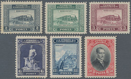 Türkei: 1929 Definitives (with Latin Inscription) Complete Set Of Six, Mint Never Hinged, The 12½k. - Unused Stamps