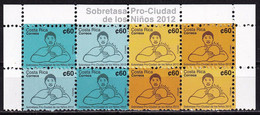 Costa Rica 2012 Charity Stamps For Children 2 Sets MNH - Costa Rica