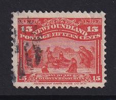 Newfoundland: 1897   400th Anniv Of Discovery Of Newfoundland   SG75   15c     Used - 1865-1902