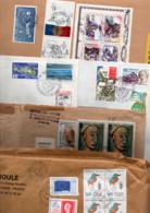 FRANCE LOT  D'AFFRANCHISSEMENTS COMPOSES SUR LETTRES - POIDS 3.160 GRAMMES - Kilowaar (min. 1000 Zegels)