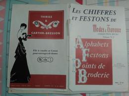 BRODERIE Chiffres Et Festons De Mode Et Travaux Volume 2 Alphabets-festons-points De Broderie - Fashion