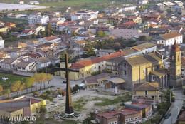 (QU433) - VITULAZIO (Caserta) - Panorama, In Primo Piano La Chiesa Di Santa Maria Dell'Agnena - Caserta