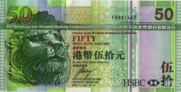 Hong Kong (HSBC) 50 HK$ (P208) 2009 -UNC- - Hong Kong