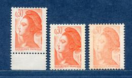 ⭐ France - Variété - YT N° 2182 - Couleurs - Pétouilles - Neuf Sans Charnière - 1982 ⭐ - Varieties: 1980-89 Mint/hinged