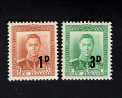 1348371095  1941 SCOTT 242 243 (XX) POSTFRIS MINT NEVER HINGED POSTFRISCH EINWANDFREI  - ARMY OVERSEAS BADGE - Unused Stamps