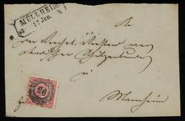 "TREASURE HUNT [01942] Baden 1860s Cover From Müllheim Bearing 3kr Rose, Framed Postmark, Numeral ""95"" Cancel On Stamp - Baden"
