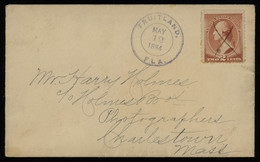 TREASURE HUNT [01967] US 1884 Cover From Fruitland, FL To Charlestown, MS Bearing Washington 2c Brown Definitive - Storia Postale